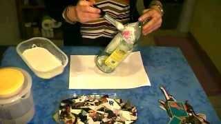 getlinkyoutube.com-Riciclo Creativo - Decoupage Bottiglia di vetro