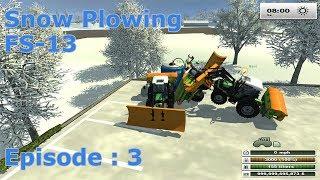 getlinkyoutube.com-Snow Plowing - Farming Simulator 2013 - EP:3