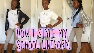 HOW I STYLE MY SCHOOL UNIFORM