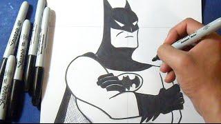 getlinkyoutube.com-Como desenhar Batman, o homem morcego