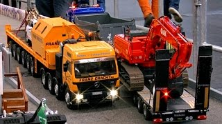 RC SCALE MODEL TRUCKS MINITRUCK MODELL TRUCKPARCOUR / INTERMODELLBAU DORTMUND *1080p50fpsHD*