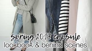 My spring 2017 capsule: lookbook + behind the scenes!