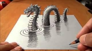 getlinkyoutube.com-3D Drawing !! 3D tekening !!!