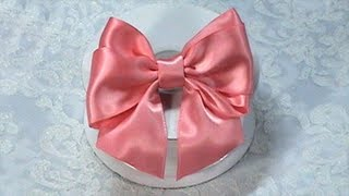 getlinkyoutube.com-DIY Ribbon Bow, DIY, Make Hair Bow, Tutorial, Bow Tie, Variant #2