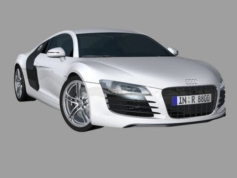AK3D 3D car animation model Audi R8