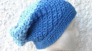 getlinkyoutube.com-Angel Stitch Slouch Hat - Crochet Hat Tutorial