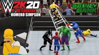 getlinkyoutube.com-Homer Simpson VS Personajes de Marvel: Por el Titulo de La WWE