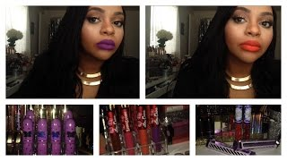 getlinkyoutube.com-Limecrime lip swatches | velvetines | unicorn lipstick | carousel glosses