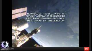getlinkyoutube.com-7/8/2014 BUSTED! NASA EDITS GIANT SAUCER UFOS ABOVE EARTH IN LIVE FEED - Aliens