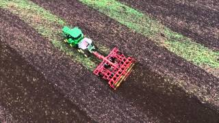 The new John Deere 9RX series tractors – 360° bird's eye view