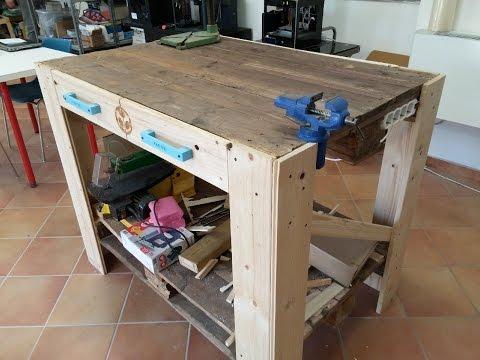 Costruire un banco da lavoro con i pallet fai da te mania - Tavolo con pedane ...