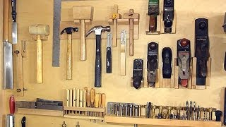 getlinkyoutube.com-Not a french cleat system for organizing hand tools