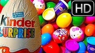 getlinkyoutube.com-150 Surprise Eggs unboxing 2 hours GIANT MEGA COMPILATION! Kinder Play-Doh Disney Peppa Pig HD
