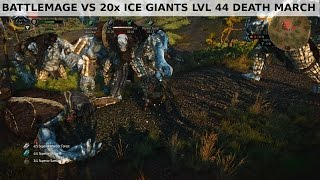 getlinkyoutube.com-Witcher 3 - Battlemage vs 20x Ice Giants lvl 44 - Death March NG+