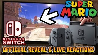 getlinkyoutube.com-NINTENDO SWITCH REVEAL & LIVE REACTIONS W/FACECAM - New Super Mario Game?