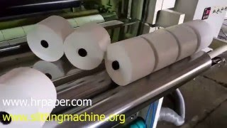 getlinkyoutube.com-Thermal Paper Slitting Machine / ATM Roll Making Machine