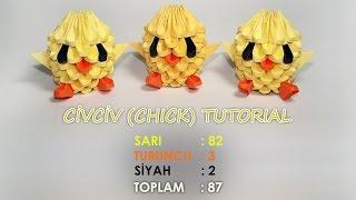 getlinkyoutube.com-3D Origami Civciv Yapımı (Chick Tutorial)