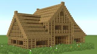 getlinkyoutube.com-MINECRAFT: How to build 6-room wooden house