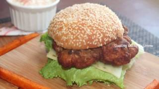 getlinkyoutube.com-KFC স্টাইলে স্পাইসি জিঙ্গার বারগার || KFC Zinger Burger Recipe Bangla || Bangladeshi Burger Recipe