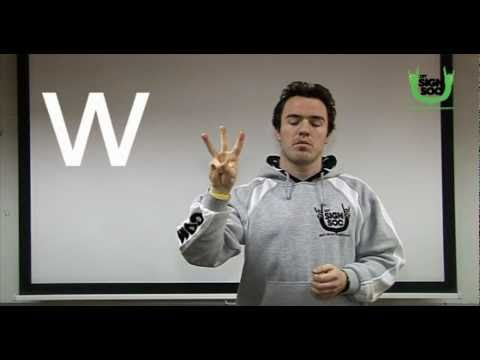 The Alphabet in Irish Sign Language by DIT Sign Society