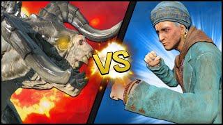 getlinkyoutube.com-Fallout 4 Battle - 100 DEATHCLAWS vs. MAMA MURPHY