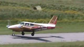getlinkyoutube.com-Piper PA-30 Twin Comanche Taxiing, Takeoff and Landing CSU3