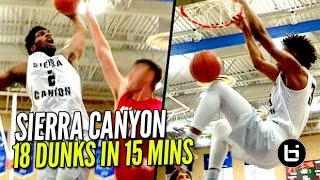 getlinkyoutube.com-Marvin Bagley III, Cody Riley & Sierra Canyon 18 Dunks In 15 Minutes!! CRAZY Bangouts!