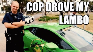 getlinkyoutube.com-PULLED OVER by Coolest Cop Ever! Much Respect! So We Let Him Drive The Lambo Australia Cops Supercar