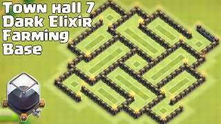 getlinkyoutube.com-Town hall 7 (TH7) New Farming Base [Alternate] Nice Looking/Defense!!!