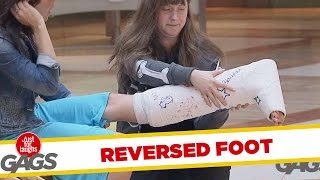 getlinkyoutube.com-Reversed Broken Leg Prank