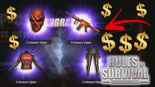 Spending MONEY on the NEW UPDATE! - Rules of Survival: Battle Royale