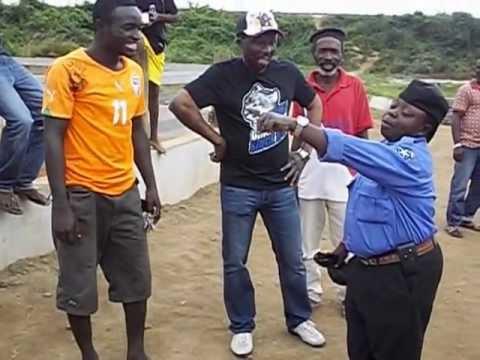 Nana kwaku bonsam's encounter with the shortest security man in Ghana . p 1