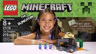 getlinkyoutube.com-THE DUNGEON - LEGO MINECRAFT Set 21119 - Unboxing, Review, Time-Lapse Build