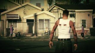 getlinkyoutube.com-CJ is back in Grove Street - Ballas vs Families GTA 5 Machinima Movie