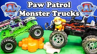 getlinkyoutube.com-PAW PATROL Nickelodeon Paw Patrol & Grave Digger Monster Truck Paw Patrol Video Parody