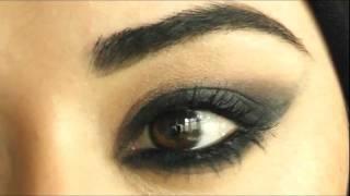 getlinkyoutube.com-Cheryl Cole Makeup tutorial Arabic Smokey Eye  شيريل كول مكياج للعيون عربية