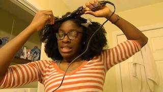 getlinkyoutube.com-AliExpress Mongolian Kinky Curly Queen Remy Hair Co Ltd. Review - HEAT STYLING