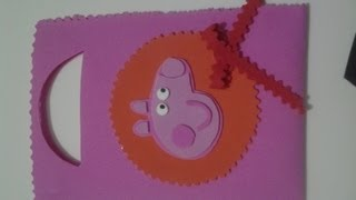 getlinkyoutube.com-Bolso De Peppa Pig en Fomy