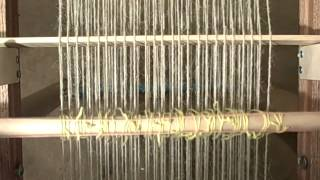 getlinkyoutube.com-How to build an upcycled loom & stand from recycled stuff & weave on the pictur