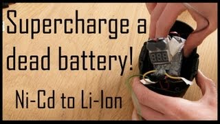 getlinkyoutube.com-Supercharge a Dead Drill Battery (replace Ni-Cd with Li-ion)