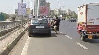 Road rage - Motorcyclist vs driver
