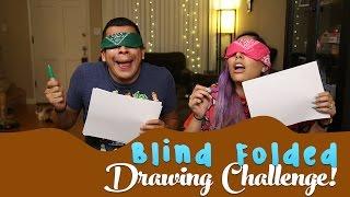 Blind Folded Drawing Challenge!
