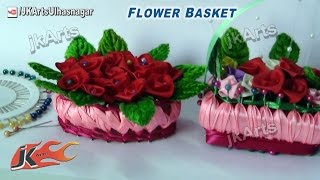 getlinkyoutube.com-HOW TO: Make  Miniature Flower Basket of soap and Ribbon - JK Arts 531