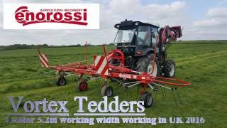 Enorossi Vortex 4 Rotor Tedder working in UK 2016
