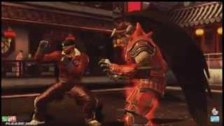 getlinkyoutube.com-Tekken Tag 2 Knee (DJin-Bruce) vs Saint (Ganryu-Bob) vs Sunchip (Bruce-Bryan) vs JDCR (Hei-Dragu)