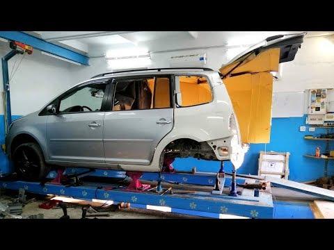 Volkswagen Touran. Подготовка к стыковке. Сборка распила.