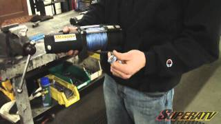 getlinkyoutube.com-Polaris RZR XP 900 3500 LB Winch Install - Super ATV