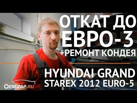 Удаление сажевого фильтра и катализатора Hyundai Grand Starex D4CB