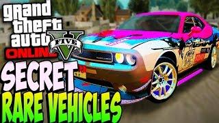 GTA 5 Online - RARE SECRET CARS ONLINE 1.24/1.23 - Secret Rare Vehicles (GTA 5 Cars Guide)