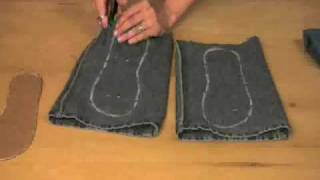 getlinkyoutube.com-Recycle Old Jeans Into Cute, New Sandals!